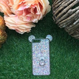 Accessories - Pink Sparkle Mickey Ear IPhone 7 Plus w/ Bling